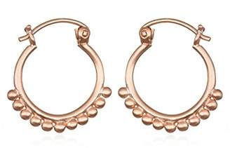 Satya Jewelry Womens Small Mandala Hoop Earrings