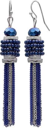 MIXIT Mixit Clr 0717 Dk Blue Drop Earrings