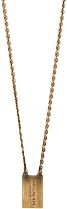 Saint Laurent Square logo-charm necklace