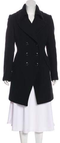 Trina Turk Wool Double-Breasted Knee-Length Coat