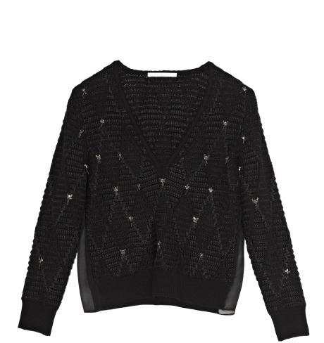 Thakoon Preorder Zig Zag Beaded Knit Pullover
