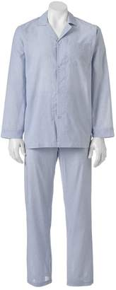 Chaps Men's Patterned Broadcloth Pajama Set
