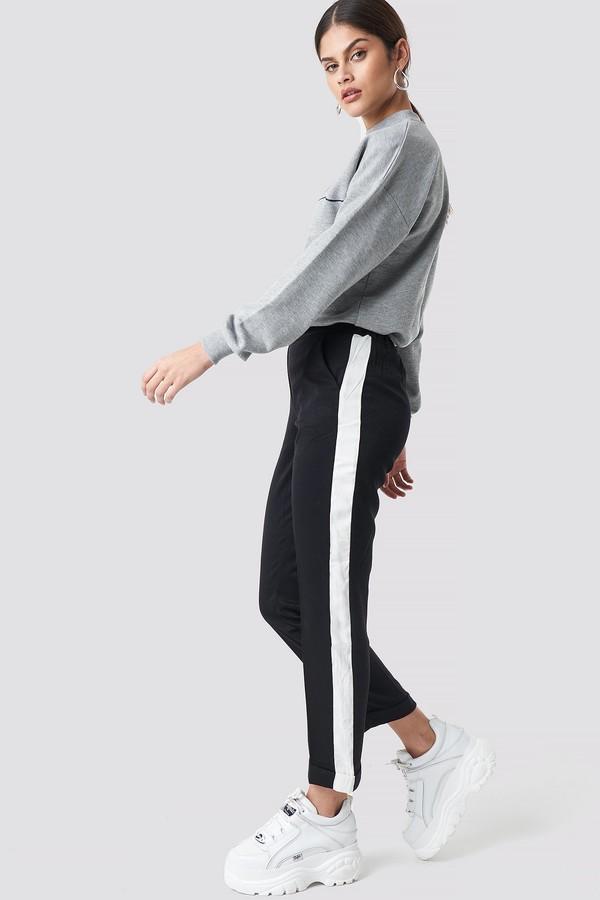 Soul Striped Trousers Black