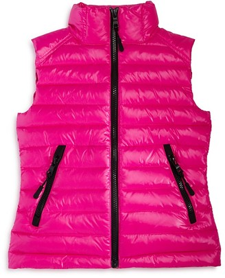 SAM. Girls' Lightweight Metallic Down Puffer Vest - Sizes 8-14 $125 thestylecure.com