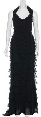 Andrew Gn Silk Tiered Gown