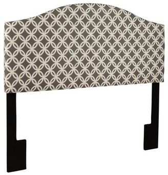 Home Meridian Nevin Upholstered Print Headboard - Gray