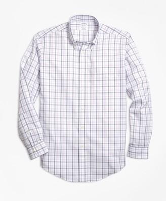 Brooks Brothers Non-Iron Regent Fit Triple-Color Windowpane Sport Shirt