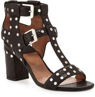 Laurence Dacade Helie Studded Leather Caged Sandals, Black