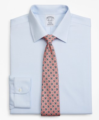 Brooks Brothers Regent Fitted Dress Shirt, Non-Iron Dobby Micro-Dot