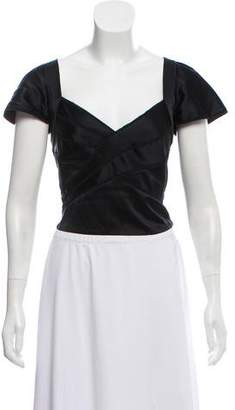 Zac Posen Silk Crop Top