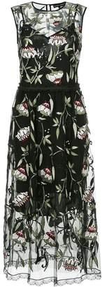 Markus Lupfer sheer floral print dress
