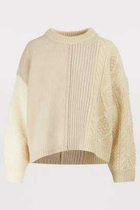 Acne Studios Ribbed and cable knit sweater