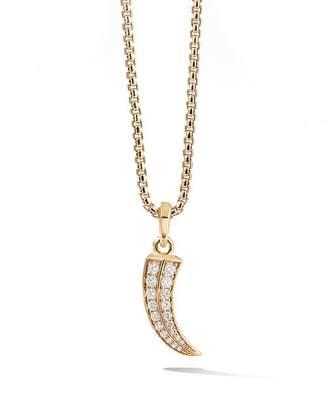 David Yurman Roman Claw Amulet in 18K Yellow Gold with Diamonds