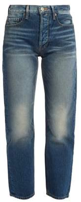 Frame - Le Original High Rise Straight Leg Jeans - Womens - Mid Blue