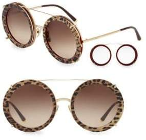 Dolce & Gabbana 63MM Round Sunglasses