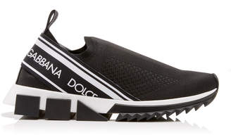 Dolce & Gabbana Sorrento Printed Stretch-Jersey Sneakers