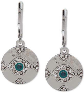 lonna & lilly Silver-Tone Crystal Evil Eye Drop Earrings