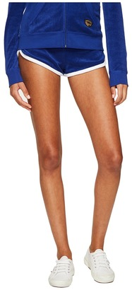Juicy Couture - Venice Beach Patches Microterry Shorts Women's Shorts $64 thestylecure.com