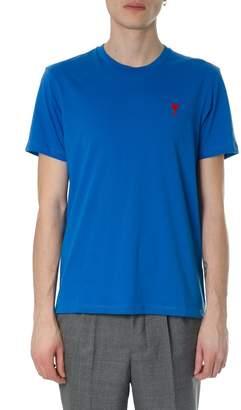 Ami Alexandre Mattiussi Ami De Coeur Blu Cotton T-shirt