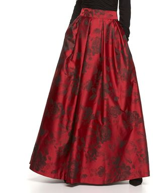 Women's Jessica Howard Pleated Floral Ball Skirt $208 thestylecure.com