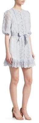 Zimmermann Iris Scalloped Mini Dress