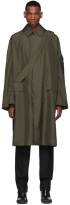 Random Identities Khaki Satin Overcoat