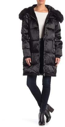 Jessica Simpson Faux Fur Trim Puffer Coat