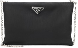 Prada Medium padded nylon clutch