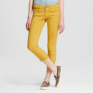 Dollhouse Women's Mid Rise Rolled Crop Skinny Jeans-Dollhouse (Juniors') $32.99 thestylecure.com