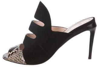 Fendi Suede Slide Sandals