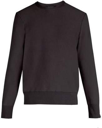 Rag & Bone Anderson Crew Neck Faded Sweater - Mens - Black