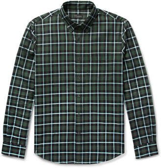 caa7ac7da5 Club Monaco Slim-Fit Button-Down Collar Checked Cotton Shirt