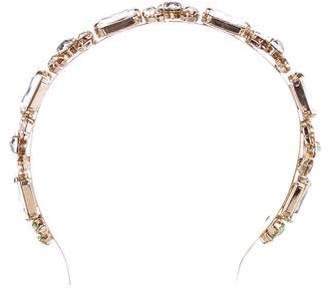 Dolce & Gabbana Gold-Plated Swarovski Crystal Headband