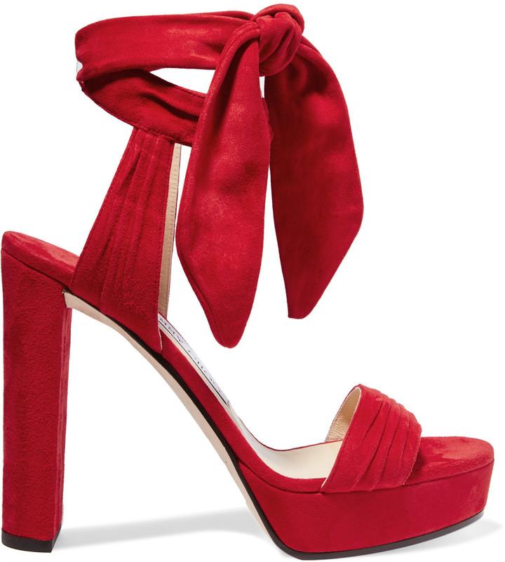 Jimmy ChooJimmy Choo Kaytrin suede platform sandals