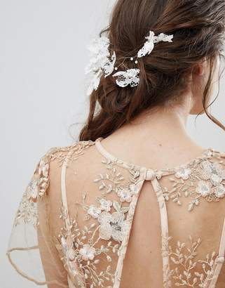 Asos DESIGN bridal lace back hair wire
