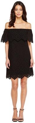 kensie - Petal Eyelet Off Shoulder Dress KS6K993S Women's Dress $89 thestylecure.com