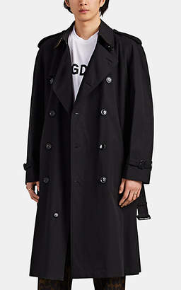 Burberry Men's Westminster Cotton Gabardine Trench Coat - Black
