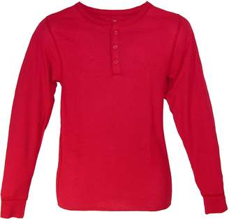 Hanes Men's Thermal 3 Button Henley Insulated Shirt