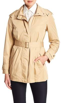 Cole Haan Belted Packable Raincoat