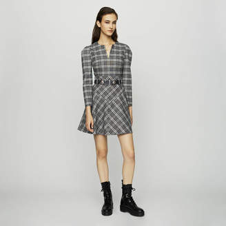 Maje Wool blend plaid dress