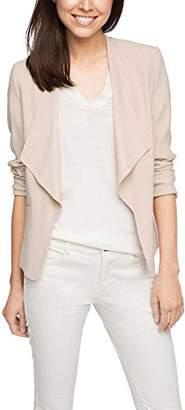 Esprit Women's 026eo1g032 - Discrete Glossy Optic Long Sleeve Coat