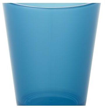Crate & Barrel Pop Blue Acrylic 15 oz. Drink Glass