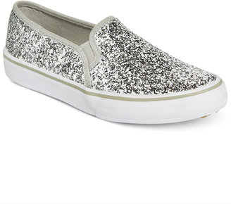 Keds Women's Double Decker Glitter Slip-On Sneakers $65 thestylecure.com