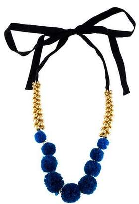 Marni Ornament Ribbon Collar Necklace