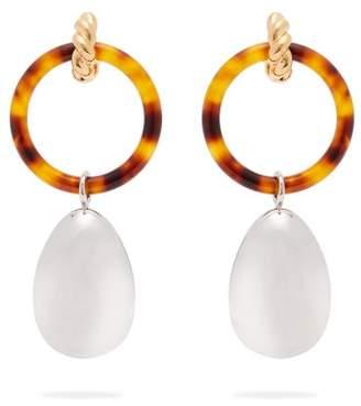 Balenciaga Hoop And Pendant Earrings - Womens - Silver