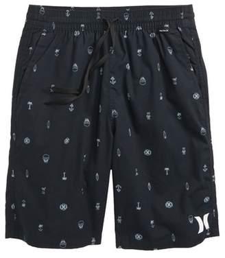Hurley Print Pull-On Shorts