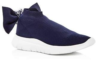 Joshua Sanders Women's Embellished Knot Slip-On Wedge Sneakers