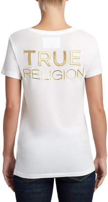 True Religion WOMENS HORSESHOE LOGO TEE