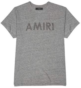 Amiri Logo-print Grey Melange T-shirt