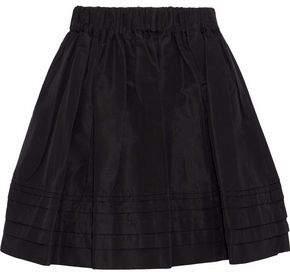 Prada Flared Gathered Silk-Faille Mini Skirt